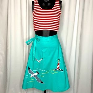 Bettie Page pin up skirt and top!